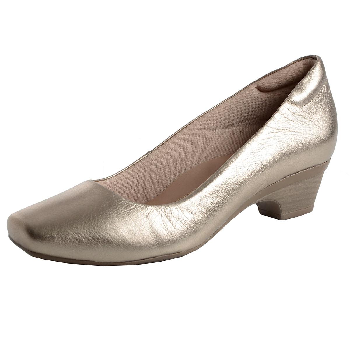 3f934cb40 Sapato Fechado Baixo Confort Prata Velho - Laura Prado