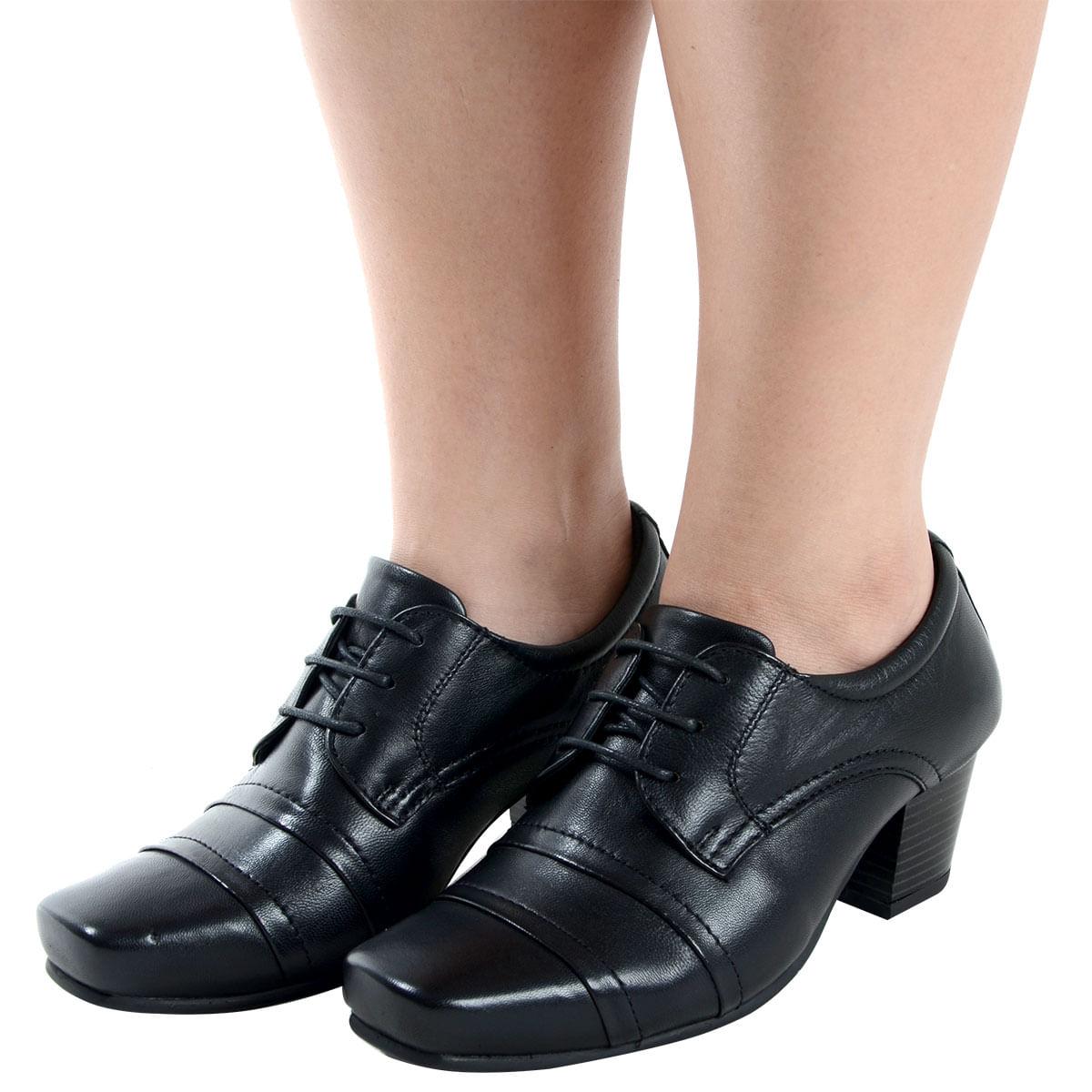 38c3042540 Sapato Salto Medio Confort Preto - Laura Prado