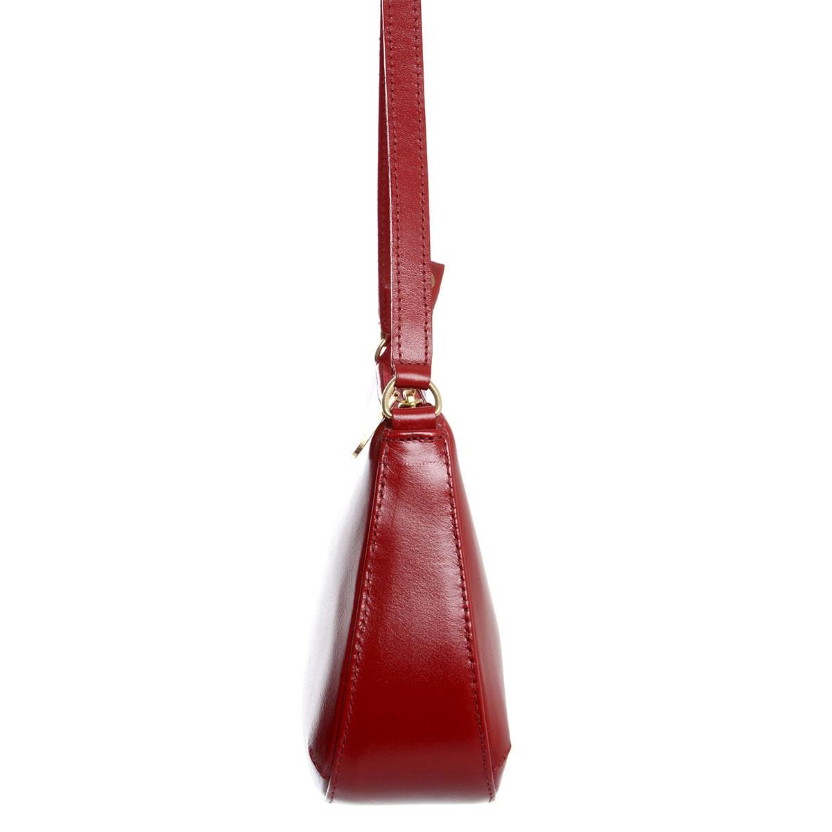 Bolsa Em Couro Social Pequena Carmin - Laura Prado 040cd983cf6