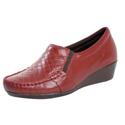 723873bf9 Sapato Anabela Confort Vermelho